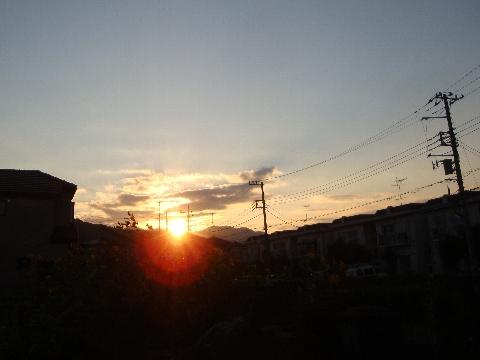 9月の夕陽。